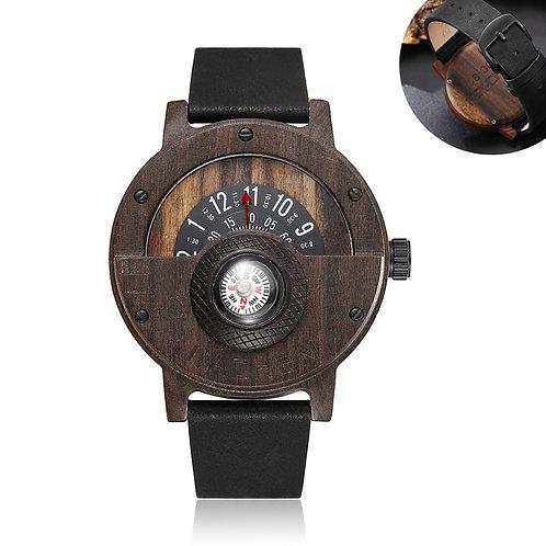 Wooden Watch Compass Design Wood watches for men
