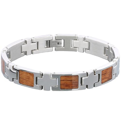 Koa Wood Bracelet Steel Wood Bracelet from EcVendor