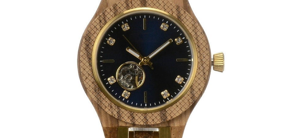 New Stainless Steel Mix Wood Automatic Wooden Watch from EcVendor