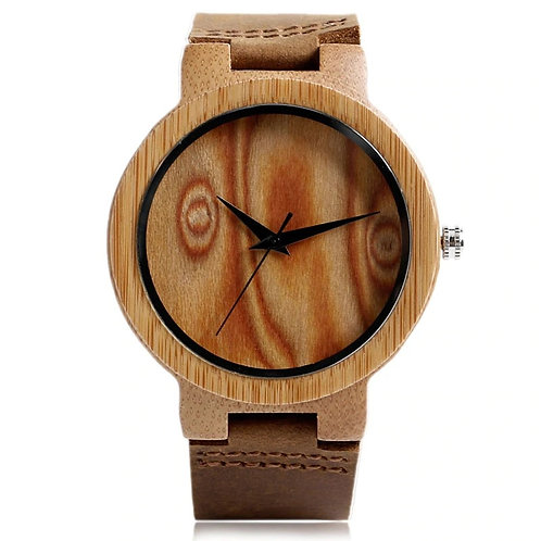 Hand-made Wooden Bamboo Dial Wrist Watches