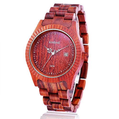 Men's Watches Real Wood Watch Male WOOD calander Quartz Wristwatch