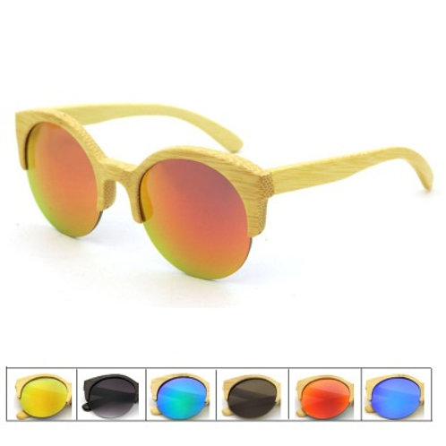 Unisex Natural Bamboo uv400 Eyewear  Wood Luxury Natural Sunglass