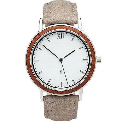Unisex wood watch with stainless steel back from EcVendor