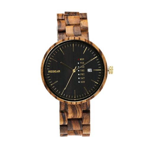 Wholesale of Men Wooden Watches Luxury ZebraWood  Natural Wood Quartz Wristwatch