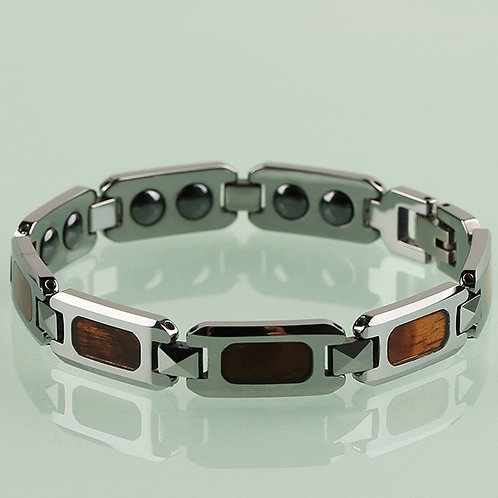 NEW KOA JEWELLERY WOOD BRACELET TUNGSTEN WOOD DESIGN