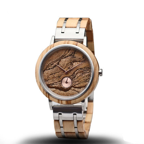 Original Men Stainless Steel Mixed with Wood Watches from EcVendor