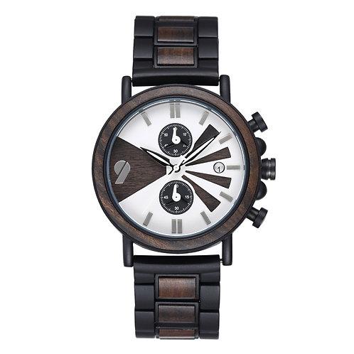 minimalist wooden watch chronograph wood men wristwatch