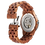 Thumbnail: Skeleton Mechanical Wood Watch 100% Handicrafted Natural W