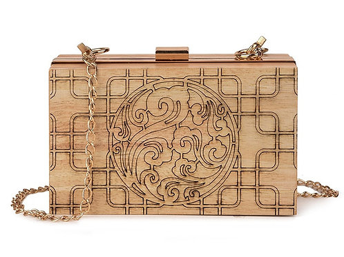 New Wood Natural design made Lady Bag Wooden handbag from EcVendor