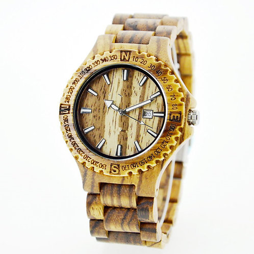 Wooden Watch Men Fashion Casual Wood Quartz Watch
