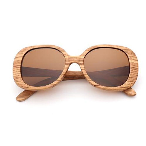 Zebra Wooden Polarized Sunglasses Mens Vintage UV Protection eyewear