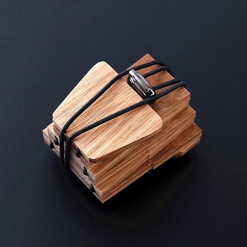 New EcVendor Wood Necktie Natural time for Men