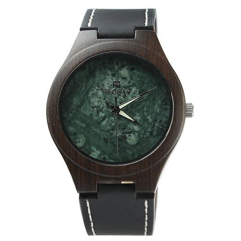 Wholesale 10PCS of Men Sandalwood Stone Surface Watch Wooden Green Marble Watch