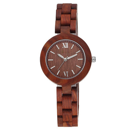 Small Face Wood Watch For Ladies from EcVendor