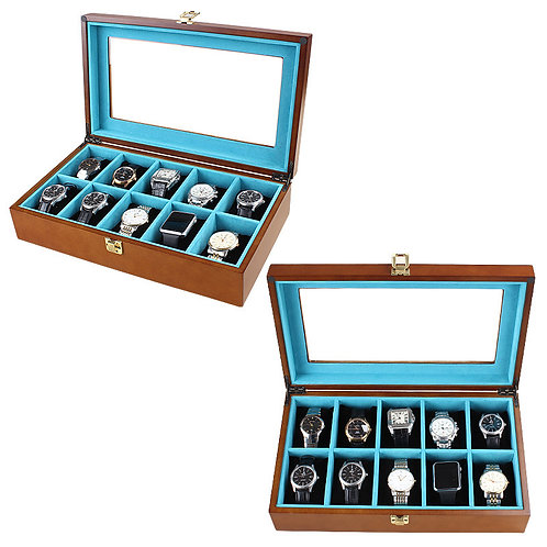 10 slots Customized PINE Wood Boxes new Wood jewellery Box