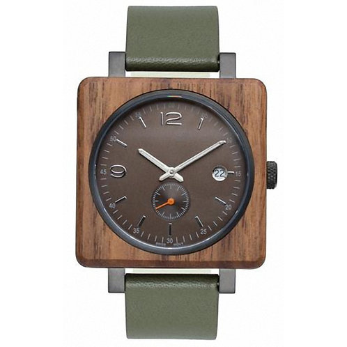 New Wood Square Face Wooden Wristwatch EcVendor
