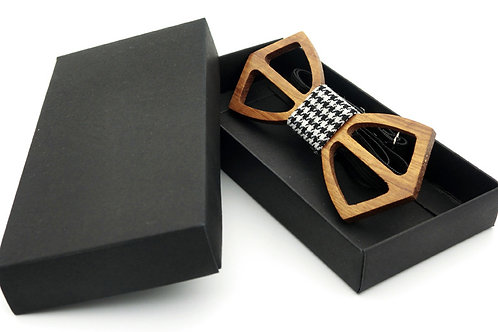 Unisex bow non-toxic natural handmade wooden collar bow tie