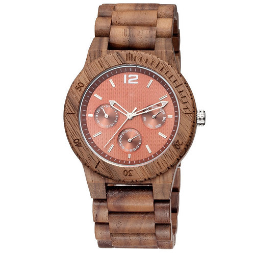 Wood Watches Wholesale Chronograph Multiple Function Walnut Watch