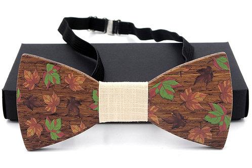 Unisex bow natural handmade Log vintage wood bow tie