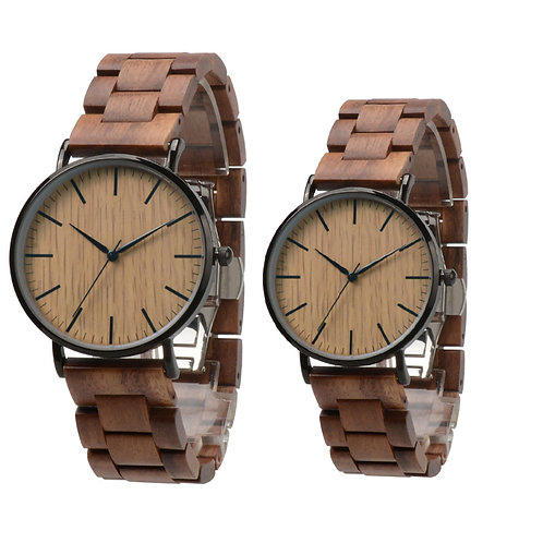 New Couple Wood Wristwatch from EcVendor Walnut wood