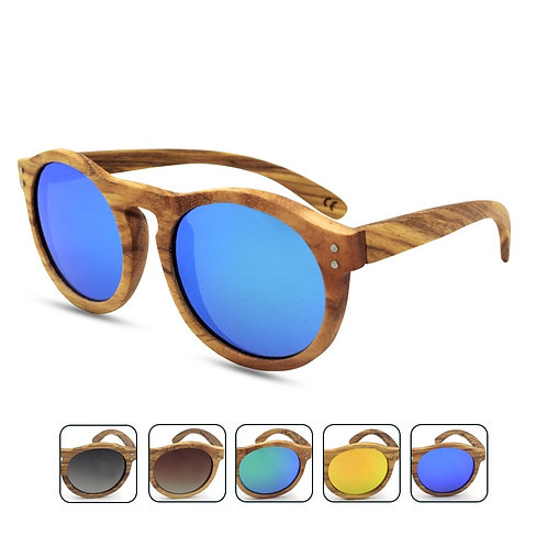 Environmental Zebra Wooden Luxury Sunglass Handmade