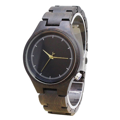 10pcs Men and women Black sandal Wooden Watch Casual Quartz Watch EcVendor