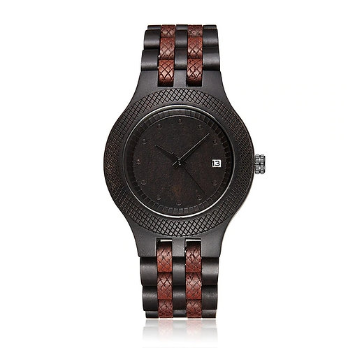 Mens Wood Watch Retro Wooden Wristwatch Roman Number Dial Watches EcVendor