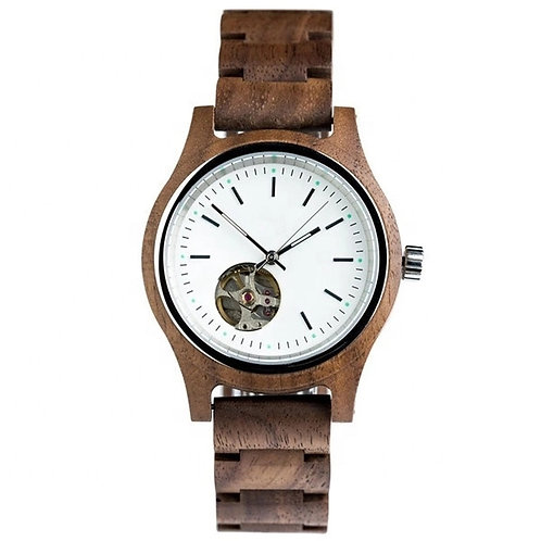 New EcVendor Wood Automatic Wristwatch Natural time for Men