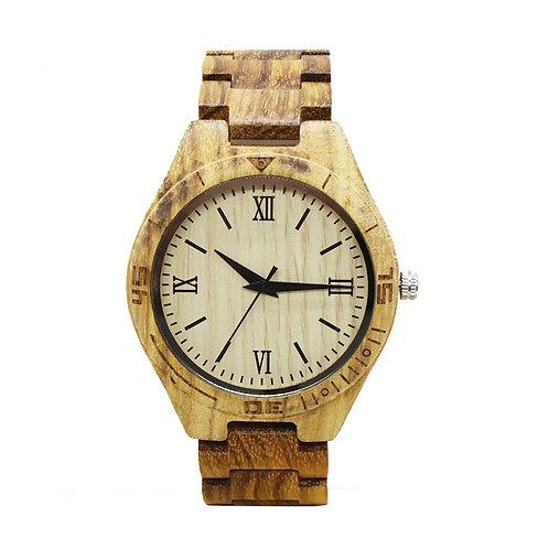 10pcs Men Engraving Zebra Wooden Watch Casual Quartz Watch EcVendor