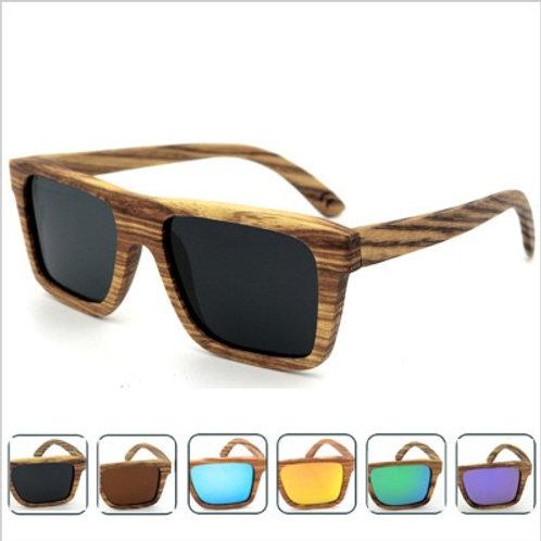 Unisex Zebra Wooden Luxury Natural Sunglass fashion eyewear
