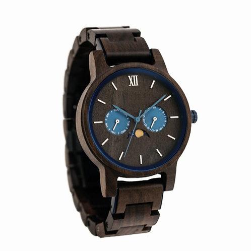 Custom OEM/ODM Multifunction Wood Watch nigh Mode Wristwatch Relejo Hombre