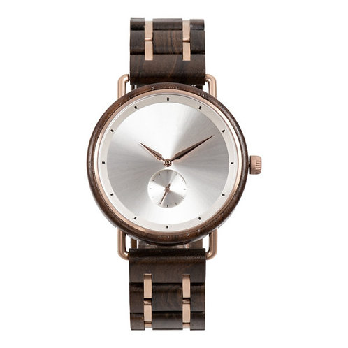 New EcVendor Men Wood Wristwatch Metal Steel Wooden Wear