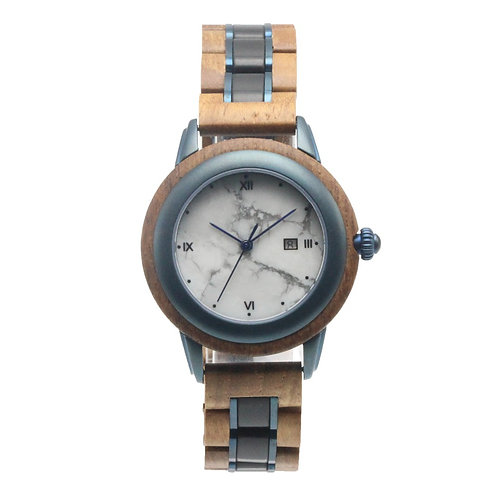 Metal Wood Mixed Wristwatch Wooden from EcVendor