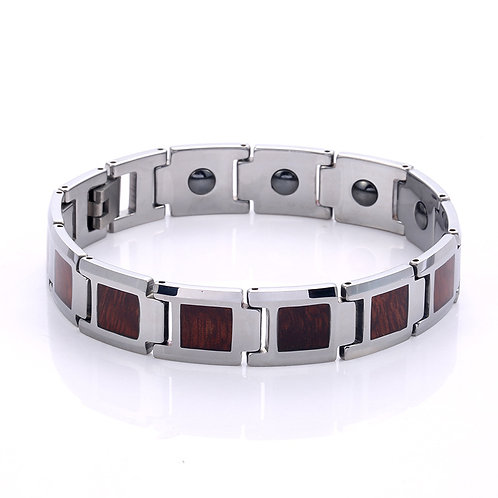 NEW KOA DESIGN TUNGSTEN AND WOOD BRACELET EcVendor