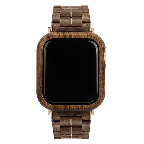 Custom Stainless Steel Metal Wood Smart Watch Band For Apple Iwatch EcVendor