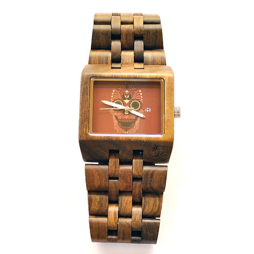 Black sandal wood Men Wristwatch from EcVendor
