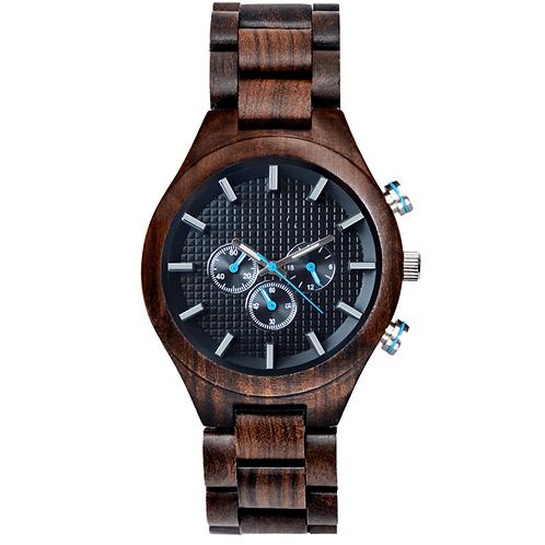 New Sandalwood Chronograph Men Wood Wristwatch EcVendor