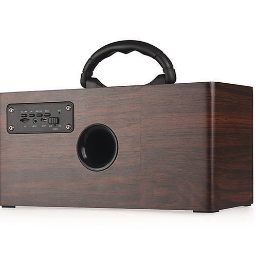 Portable Wireless Multifunction Wooden Bluetooth Speaker Dual Stereo