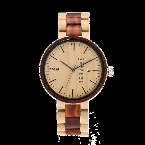 Men Wooden Watches Luxury Maple Wood Red Sandalwood Quartz Wristwatch