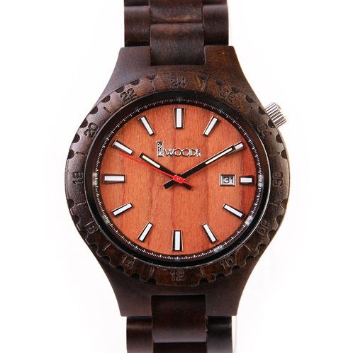 New Unisex Natural Black SandalWood Watch