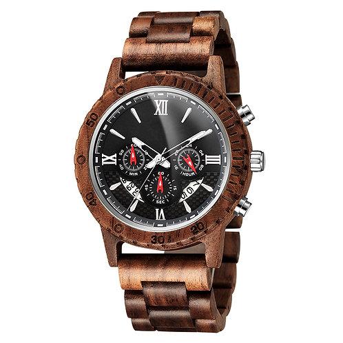 New Chronograph EcVendor Wood Wristwatch Wooden Men Watch