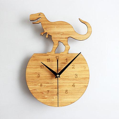 New Dinasour Home Wall Clock Wood Walnut Wall clock