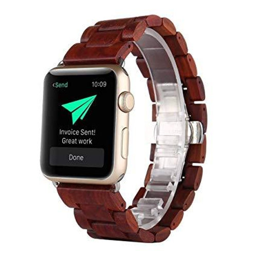 Red Sandal Wood Apple Watch Band (Series 4) from EcVendor Eco Wear