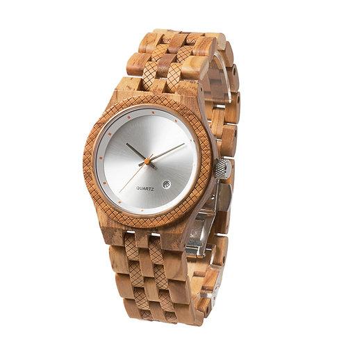 New EcVendor Italy Olivewood Quartz Wooden Wristwatch for Men