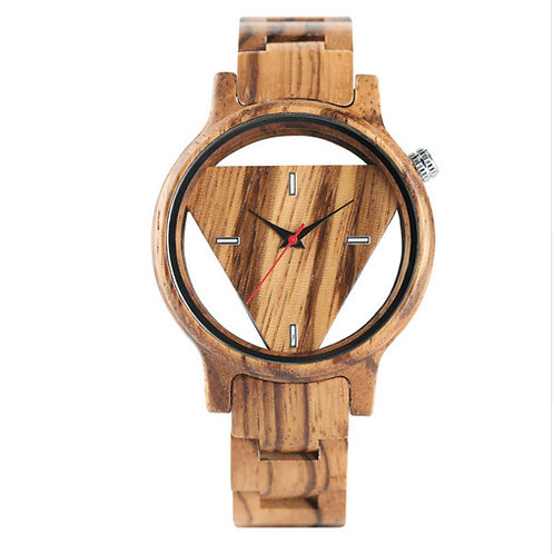 New Men Trangle Shape Classic Watch 100% Handicrafted Natural Wood