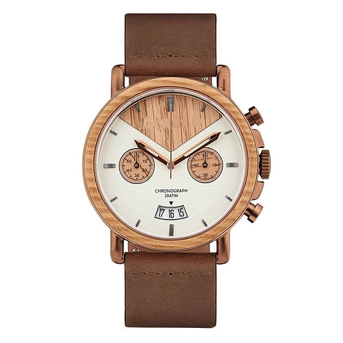 New Stylish Wood Chronograph EcVendor Men Big Face Wristwatch