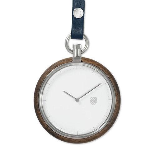 Walnut Wood New Style Unisex Minimalist Design Wood Pocket watch EcVendor