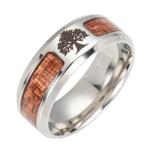 New Unisex Classic Wedding Fashion TREE Wood Koa Ring MOQ 10PCS