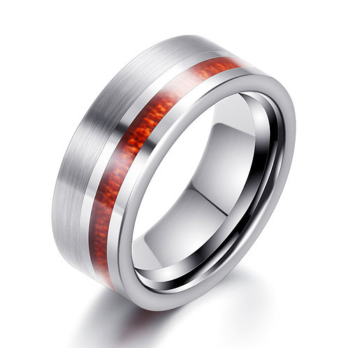 New TUNGSTEN CARBIDE Woodgrained Wooden Weeding Ring EcVendor