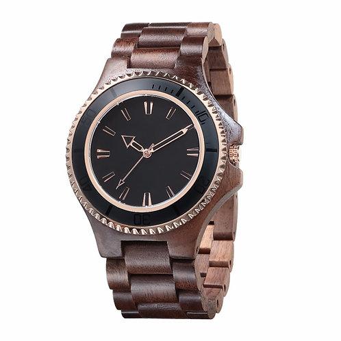 Walnut Wood Watches Rolex Bezel Wholesale WristWatch for Men EcVendor